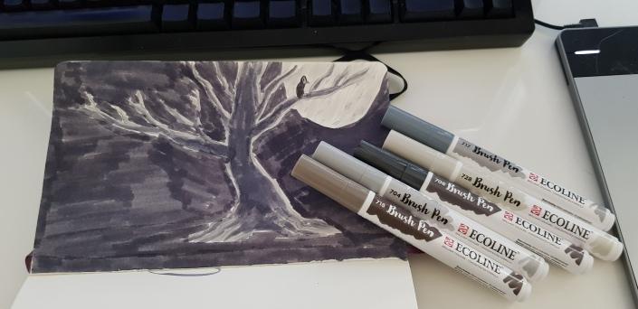 brushpen-drawings
