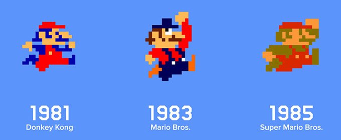 The Evolution of Mario to Jumpman
